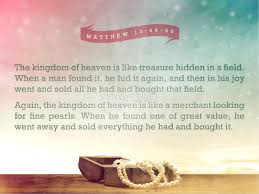 the parable of the hidden treasure and the pearl ministry