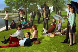 the office cast re creates george seurat s sunday in the park