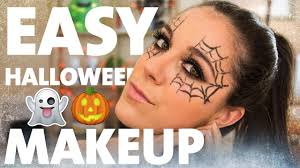 easy halloween makeup tutorial spider web eyes kelsey farese