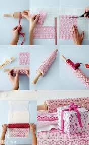 make your own wrapping paper lace printing so cool make your own wrapping paper made