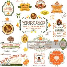 fall labels and ornaments vector getty images