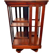Revolving Bookcase Table Mahogany Revolving Bookcase John Danner From Front Porch On Ruby Lane