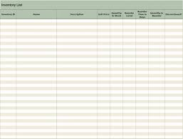 Excel Templates For Inventory Management Inventory List Office Templates