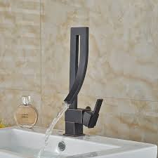 Waterfall Style Faucet Unique Design Deck Mount Waterfall Bathroom Mixer Faucet Single