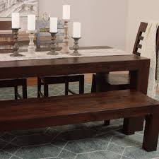 Distressed Black Dining Table Distressed Wood Donnovan Fixed Dining Table World Market