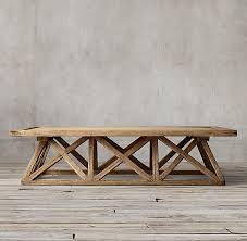 Trestle Coffee Table Trestle Door Coffee Table