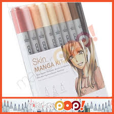 copic ciao markers 9 piece manga skin colors ebay