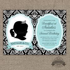 custom silhouette invitation plus poster breakfast at