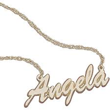 cheap name necklace personalized women s 10k gold script name necklace 18 walmart