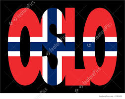 Flag Of Oslo Flags Oslo Text With Flag Stock Illustration I1593420 At