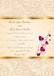 wedding invitations kent gold damask with hearts fall wedding invitation ewi053
