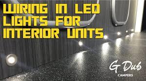 vw t5 campervan conversion wiring in led lights for interior