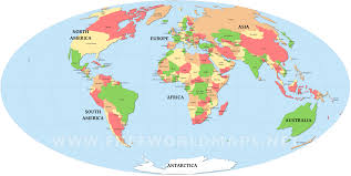 world map political with country names free map countries major tourist attractions maps