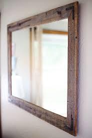 Reclaimed Wood Bathroom Mirror Rustic Wall Mirror Large Wall Mirror 42 X 30 Vanity Mirror