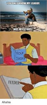 Your Story Meme - you only know my league not my story our stor feeder ahaha meme on
