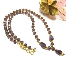 necklace designs with crystals images Designer crystal beads chain 1 pc 16 39 inch JPG