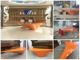 Hair Salon Reception Source Quality Unusual Design Attractive Artificial Stone Modern Office Small