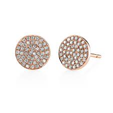 diamond stud earrings uk ko 18ct gold large flat diamond stud earrings