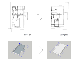 how to create a reflected ceiling plan in sketch up and then