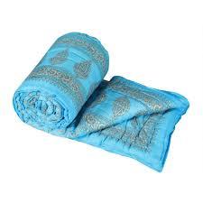 Double Cot Bed Sheets Online India Buy Jaipur Ragajaipuri Print Cotton Double Bed Razai Quilt Jaipuri
