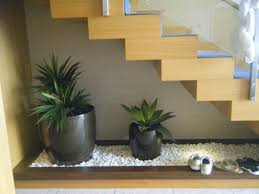 interior adding indoor plants to decorate space below the