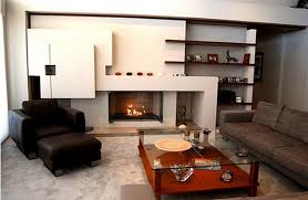 beautiful contemporary living room with fireplace with 10