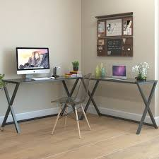 Glass And Metal Corner Computer Desk Multiple Colors Glass Desks You U0027ll Love Wayfair