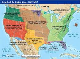usa map louisiana purchase the map including florida cession from spain 1819 louisiana