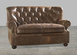 Brown Leather Loveseat Coco Brompton Leather Louis Collection Vintage Loveseat