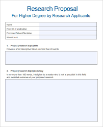 sample research proposal template 10 free documents download in