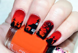 halloween nail art easy nail art tutorial halloween spider