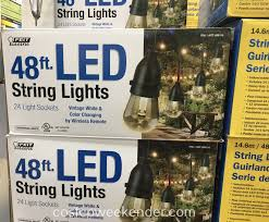 costco led string lights feit electric 48ft led string lights costco weekender