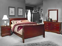 amazon com 4pc solid pine queen size bed complete amazon com 4 pc louis philippe queen bedroom set by coaster
