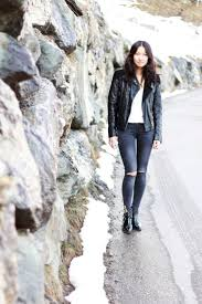 ladies black leather biker boots 2424 best leather jackets images on pinterest black leather