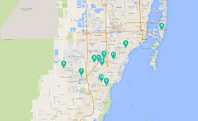 South Florida County Map by Baptist Health South Florida
