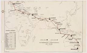Qantas Route Map by Macrobertson Centenary Air Race Aviation In Australia Stories