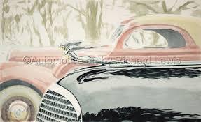 painting 1937 glass cad ornament original by automotive