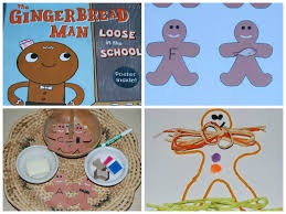 gingerbread man rhyme and candy house craft for preschoolers