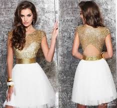 dresses for graduation 8th grade gold and white 2014 sheer homecoming dresses 8th grade
