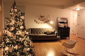 small white christmas tree with lights living room christmas decoration living room with tree home