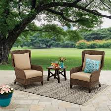 walmart better homes and gardens farmhouse table better homes and gardens camrose farmhouse 3 piece outdoor chat set