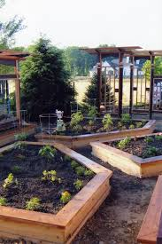 wooden garden planters ideas landscape craftsman with wood trellis