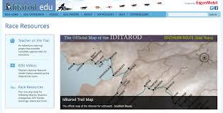 Iditarod Map Iditarod Com Edu U2014 Sled Dog Info