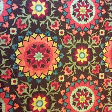 nl233 moroccan floral suzani medallion jewel tone cotton weave