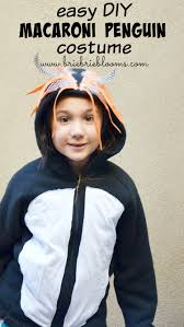 the diy macaroni penguin costume is great for the entire family