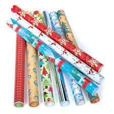 christmas wrapping paper rolls happy holidays