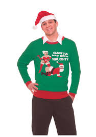 santa has been naughty ugly christmas sweater