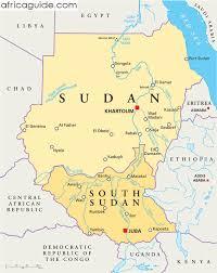 africa map khartoum sudan guide