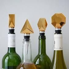 geo bottle stoppers west elm