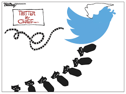 Interior Department Twitter Ban Editorial Cartoon Twitter In Chief